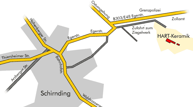Wegbeschreibung nach Schirnding