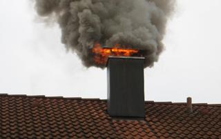 Ein Schornsteinbrand